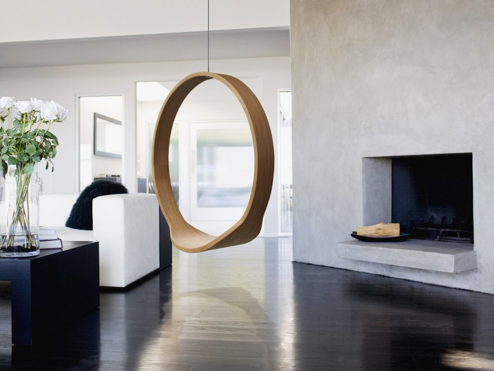 Wooden Circle Swing Model N1 Acts As A Contemporary