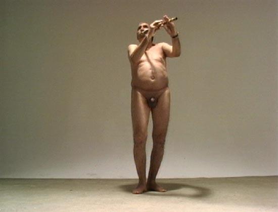 Joueur de flûte - Adel Abdessemed, 1996