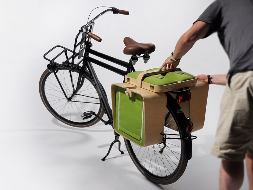 bike rack picnic basket with table and