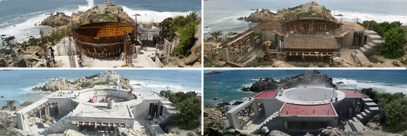 construction of 'gabriel orozco house', roca blanca, mexico, 2008  images © tatiana bilbao
