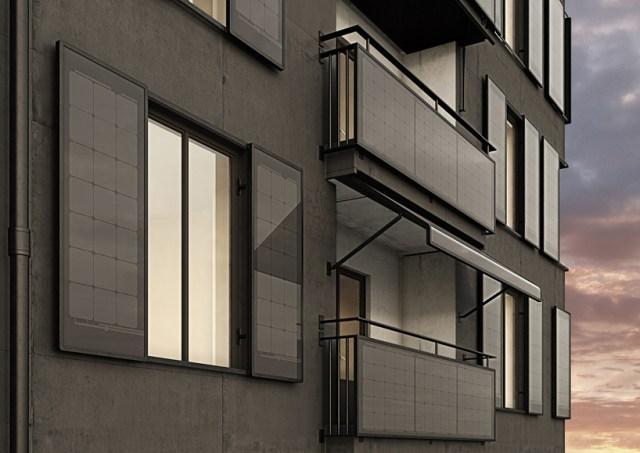 In Svezia i pannelli solari sostituiscono balconi,tende e finestre