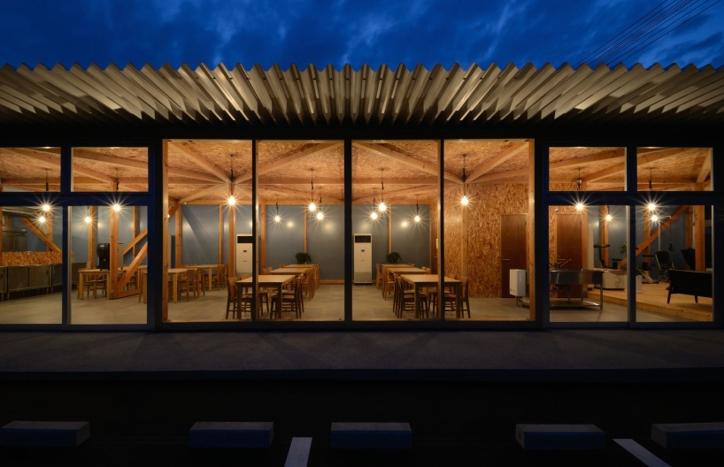 Niji Architects Constructs Inviting Timber Frame Cafeteria