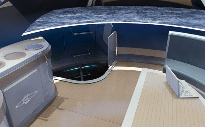 Off-grid UFO home is completely powered by wind, water and sun