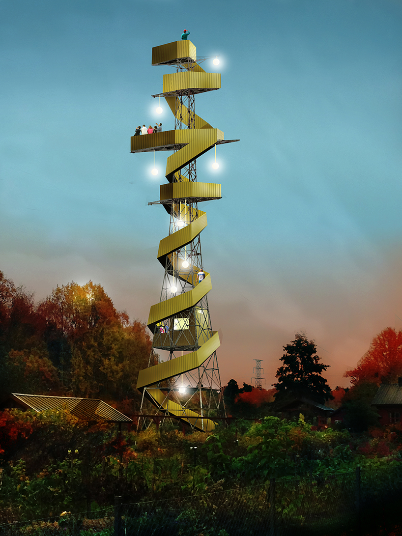 Anders Berensoon S Proposal Transforms Pylons Into Observation Towers