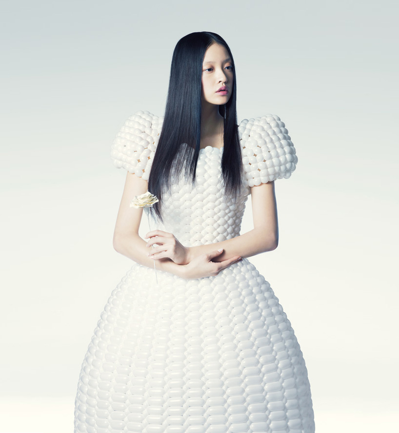 balloon dresses by rie hosokai and takashi kawada