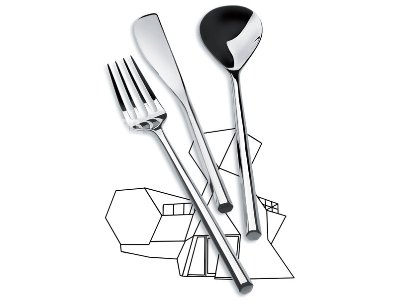 toyo ito: MU cutlery for alessi at maison et objet