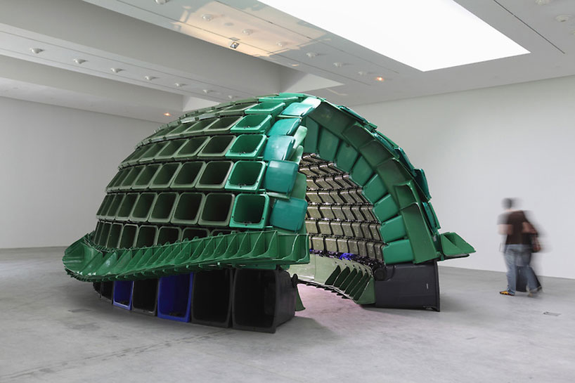 brian jungen: carapace made from plastic recycling containers