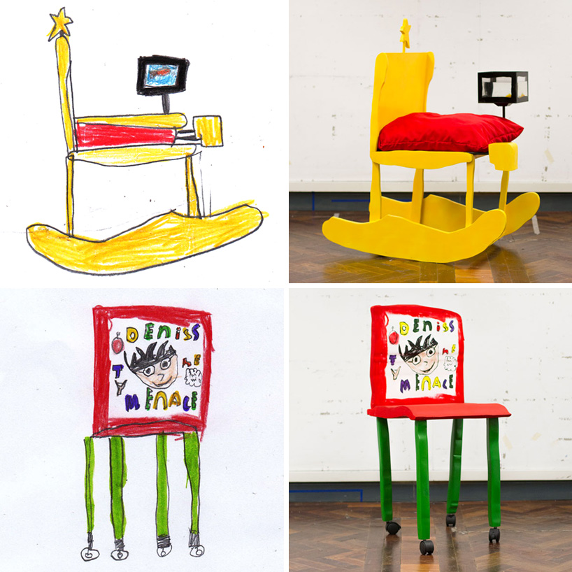 children's drawings made into furniture