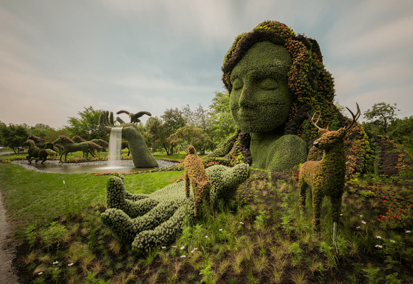 living plant sculptures at the montreal botanical gardens