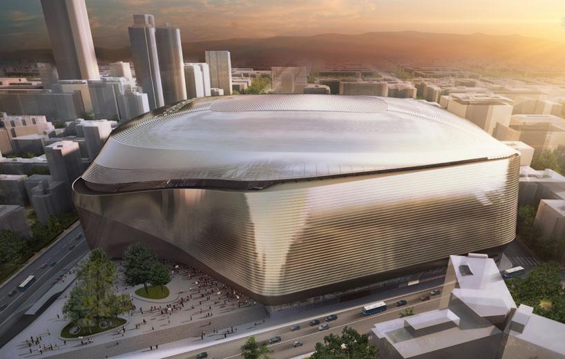 santiago bernabeu stadium redevelopment designboom