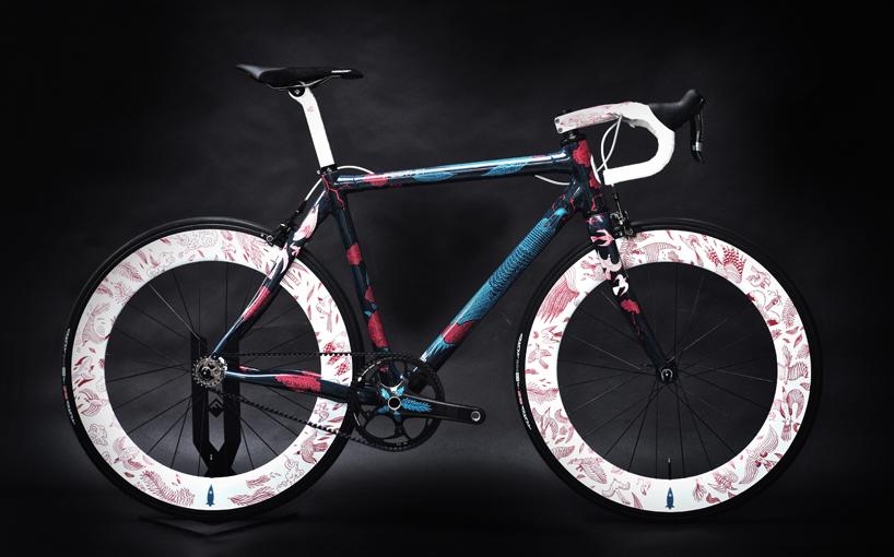 festka urban zero carbon fiber bicycle features illustrations by tomski & polanski