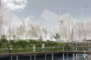 land art park conceived to generate wind energy in denmark