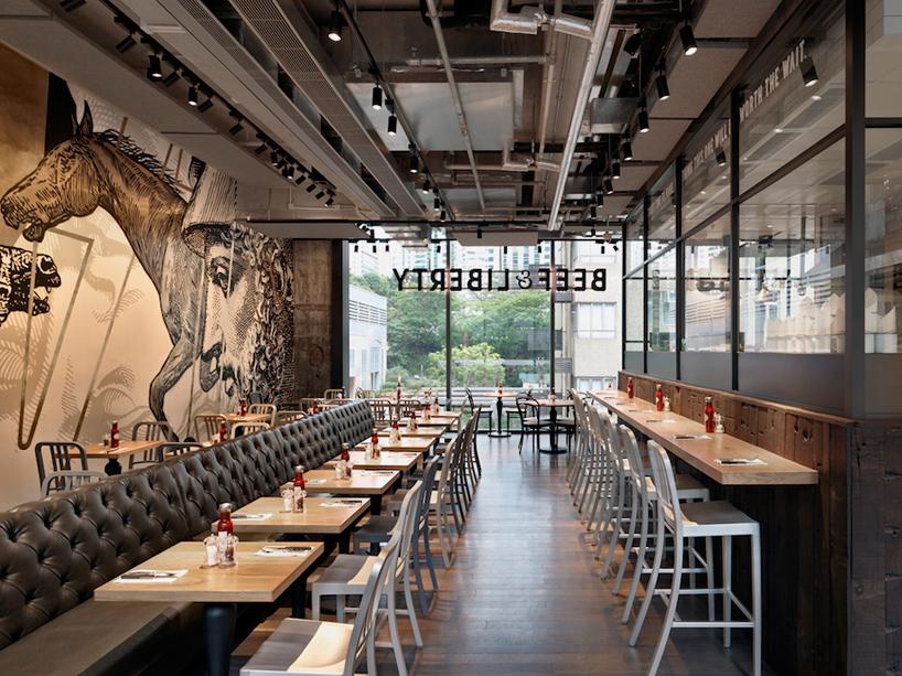 Beef Amp Liberty Restaurant In Hong Kong Features Wall Art
