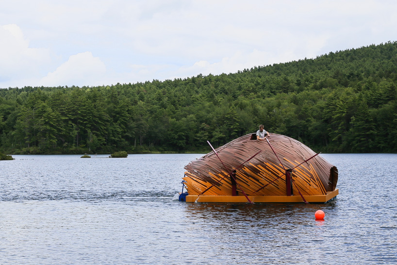 floating creatura project constructed by summer camp kids