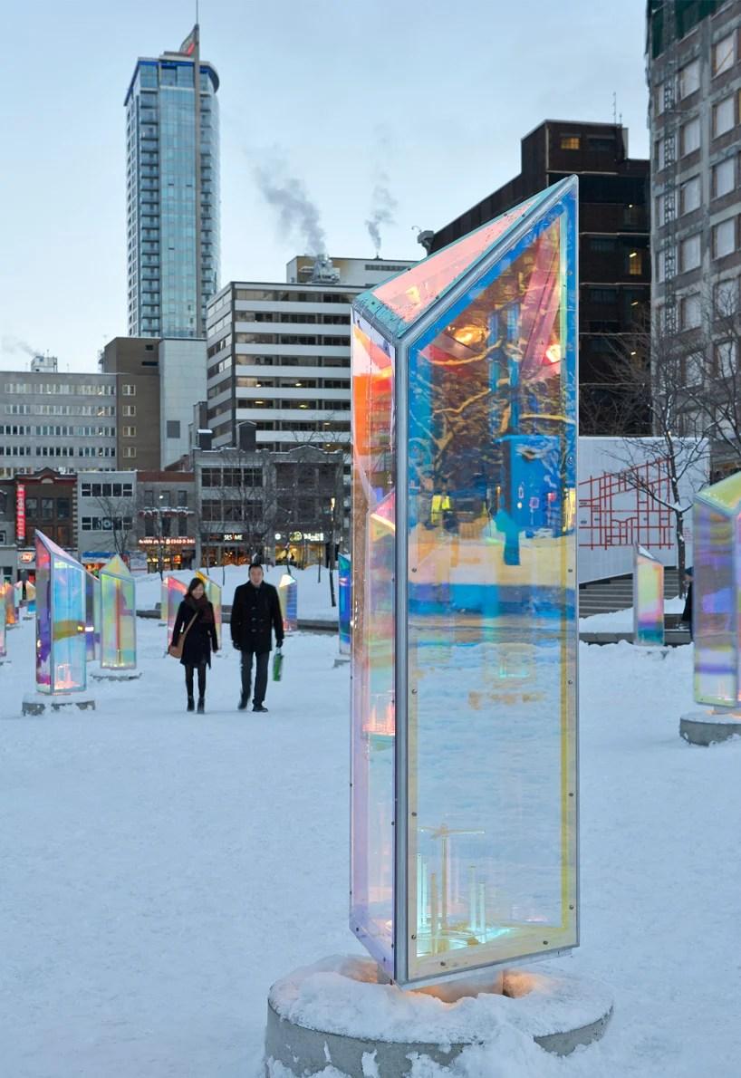 RAW Transforms Downtown Montreal Into Prismatic Kaleidoscope