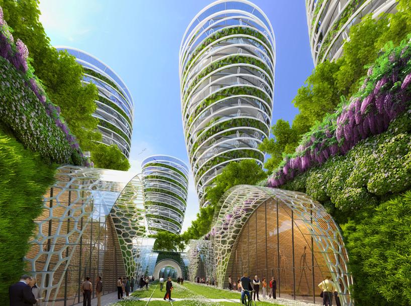 vincent callebaut architectures paris smart city 2050 green towers designboom