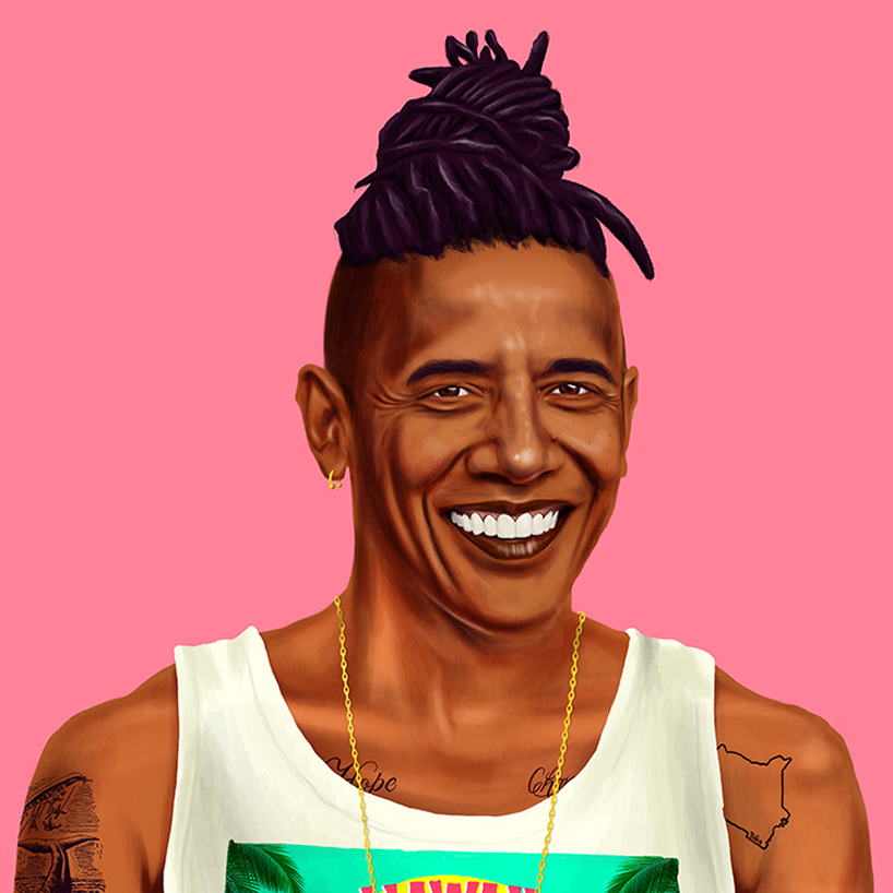 amit shimoni turns obama, dalai lama and more into hipsters