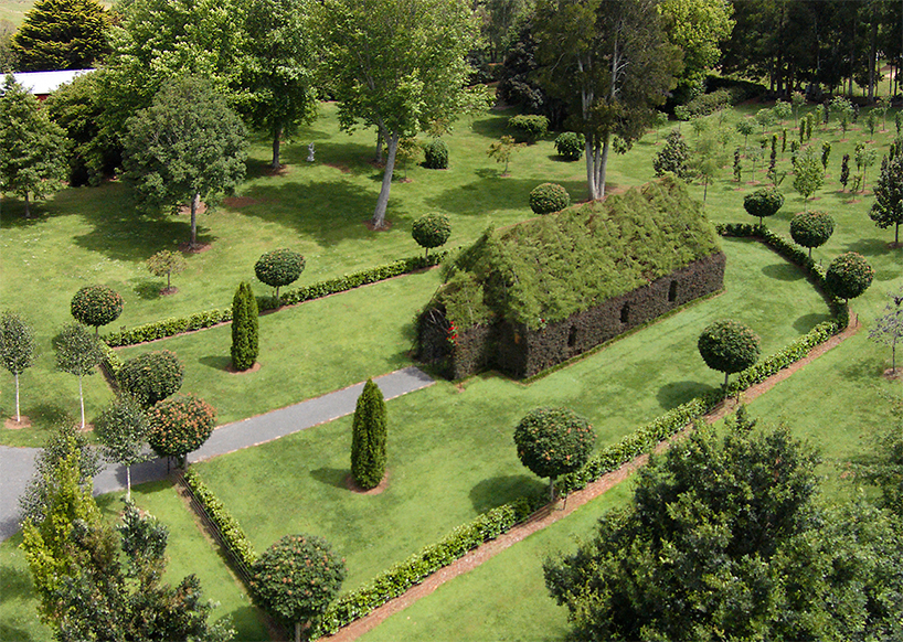 new zealand nature lover grows living tree church and lush labyrinth walk