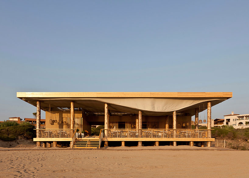 K Studio Constructs Timber Beach Side Barbouni Restaurant