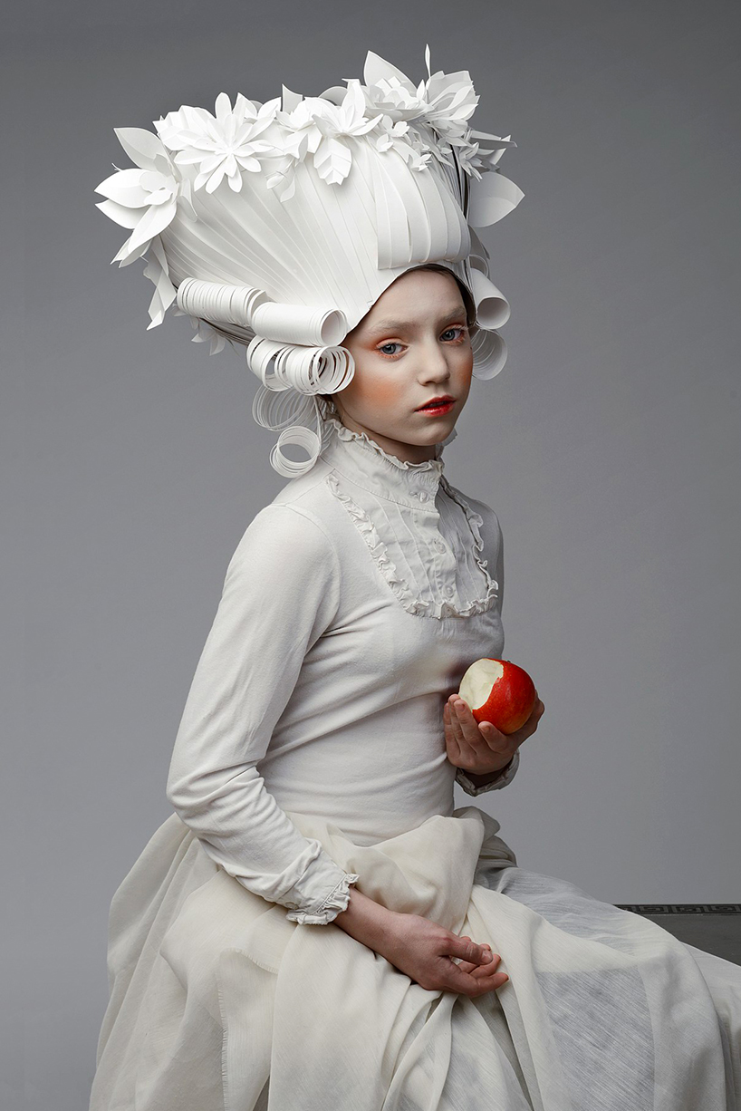asya kozina crafts intricate baroque wigs from paper