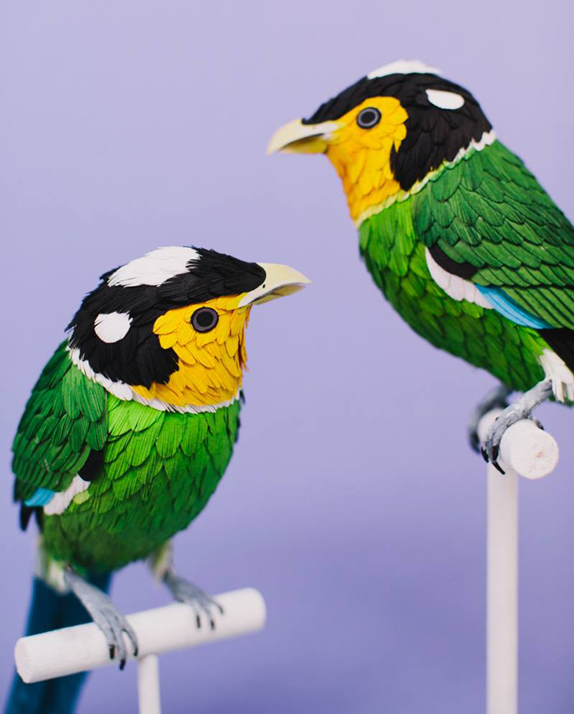 diana beltran herrera's paper aviary comprises hundreds of sculptural birds