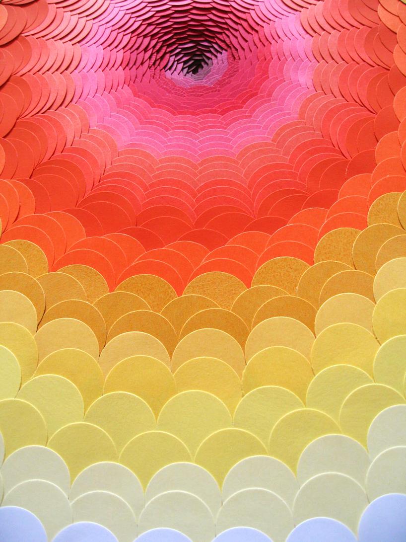 Maud Vantours Psychedelic Paper Landscapes
