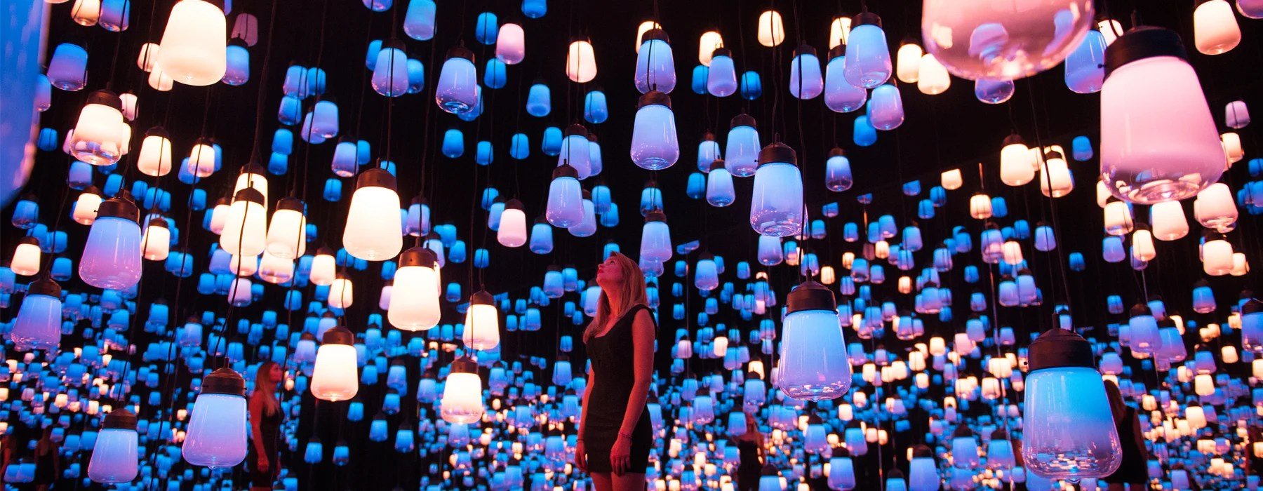 Teamlab Suspends Forest Of Resonating Lamps At Maison Et Objet