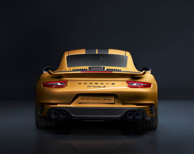 Golden Yellow Porsche 911 Turbo S Exclusive Series Limited
