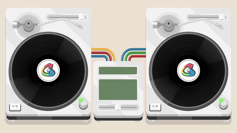 Google Doodle tournées hip-hop 44 anniversary designboom