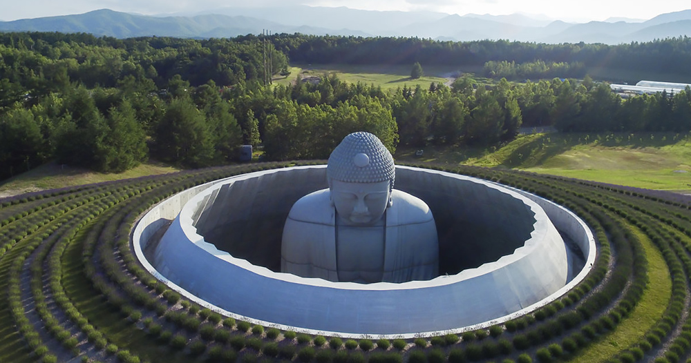 Tadao Ando Surrounds Giant Statue With The Hill Of The