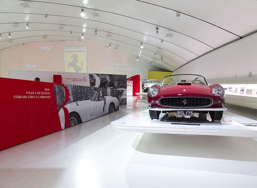 Shiro Studio Completes Rossorossa Exhibition Design For Enzo - Car show floor covering