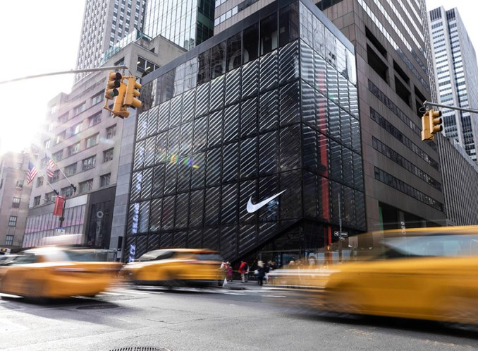 NIKE opens immersive flagship store in NYC with wavy glass