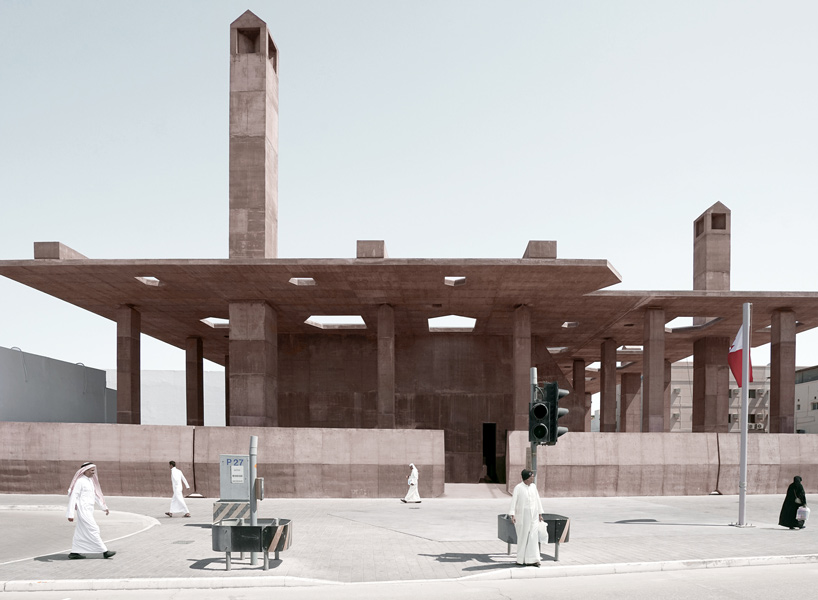 valerio olgiati creates concrete canopy for bahrain's