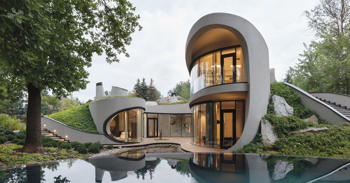 Niko Architect Weaves Organic Futuristic House Into