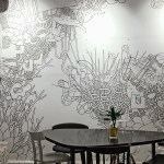 Freehand Monochrome Mural By Stefanos Papadimos Adorns Solasta Cafe S Walls In Athens