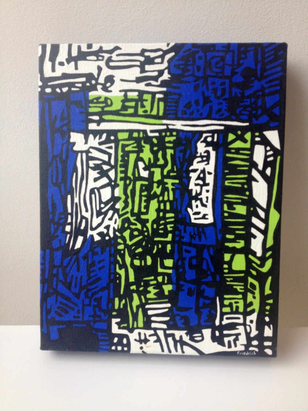 """""""Hong Kong"""" original painting"""