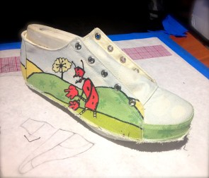 """""""Robots"""" shoe in the making"""