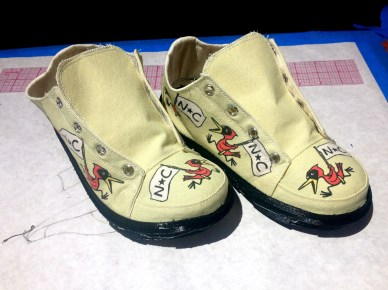 """""""NC Birds"""" shoe in the making"""