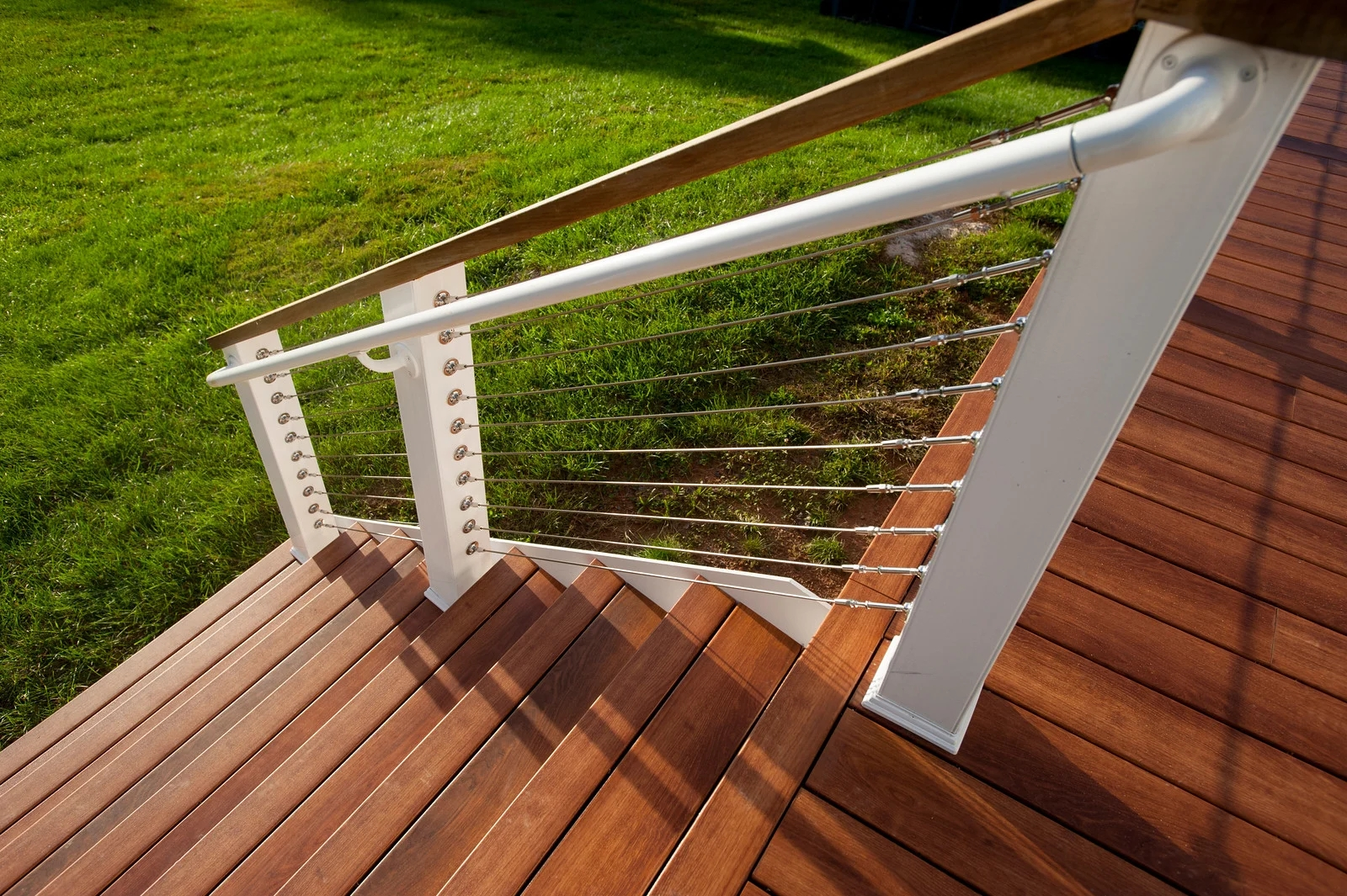 Steel Cable Deck Railings So Whats The Deal   Hog Wire Stair Railing   Deck Stainless   Wire Lattice Deck   Wire Panel   Privacy Panel Cable Railing   Modern Farmhouse