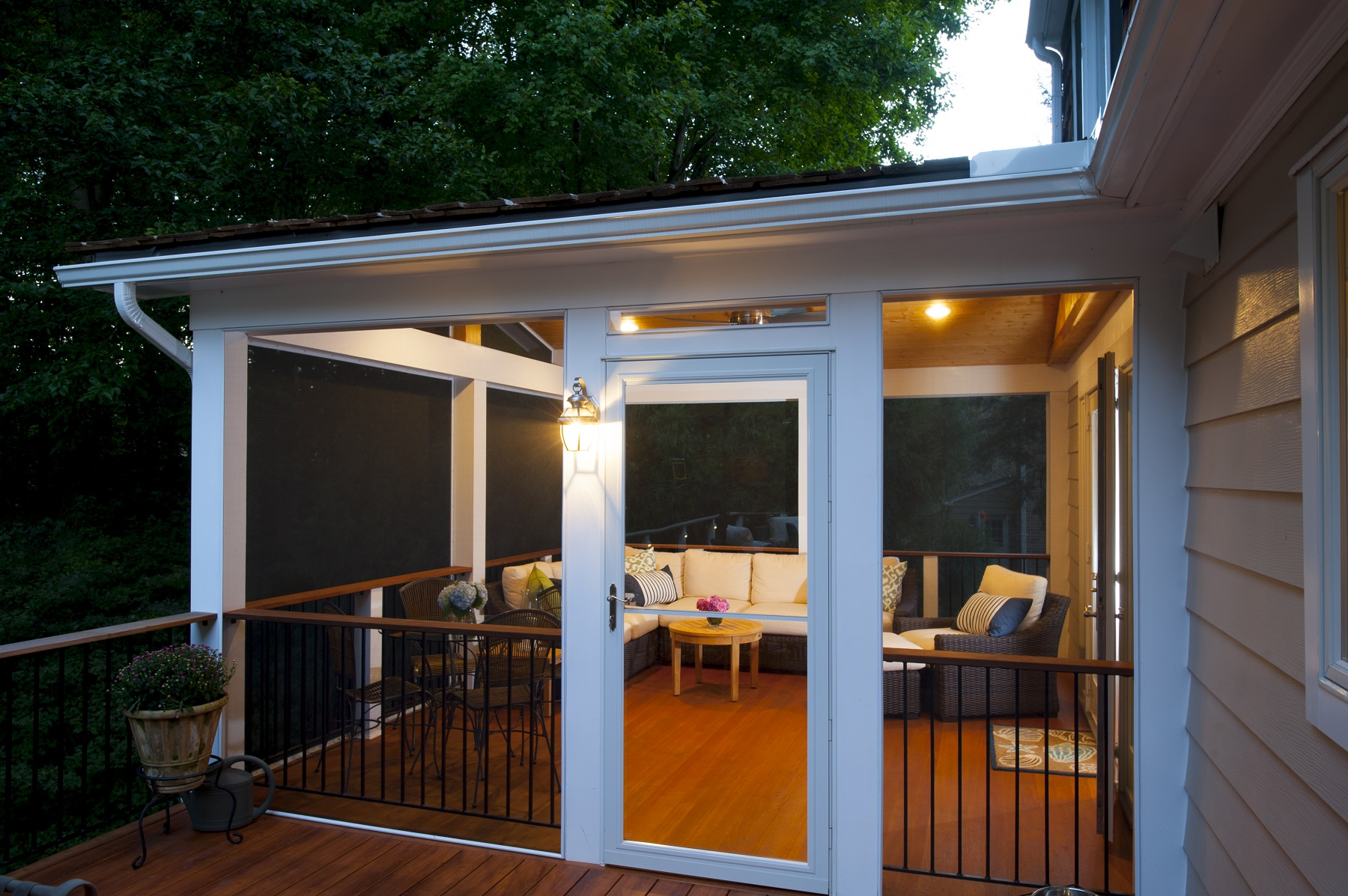 for enclosing an existing outdoor space