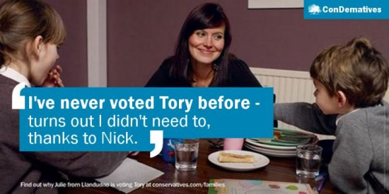 """""""I've never voted Tory before - turns out I didn't need to, thanks to Nick."""""""