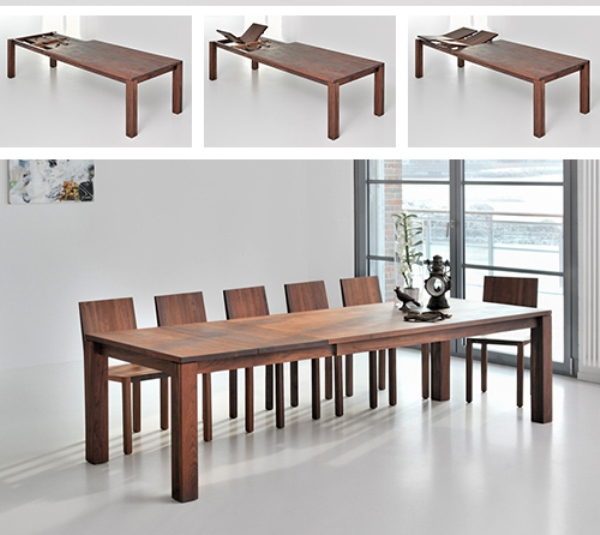Solid Wood Extending Dining Table By Vitamin Design