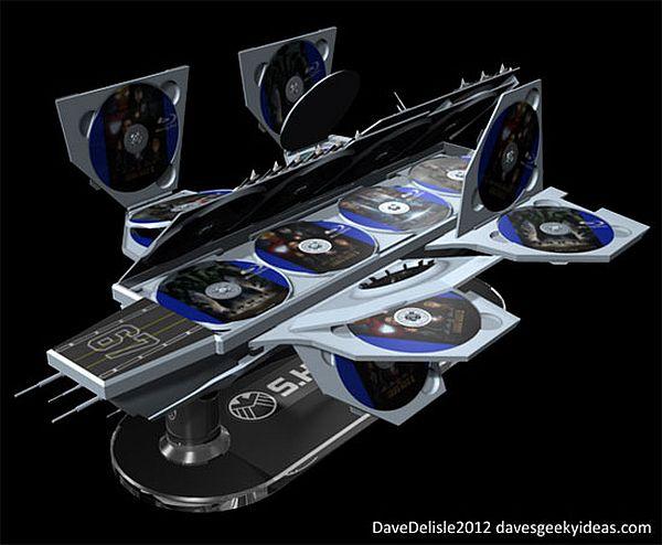 30-disc Avengers Helicarrier case