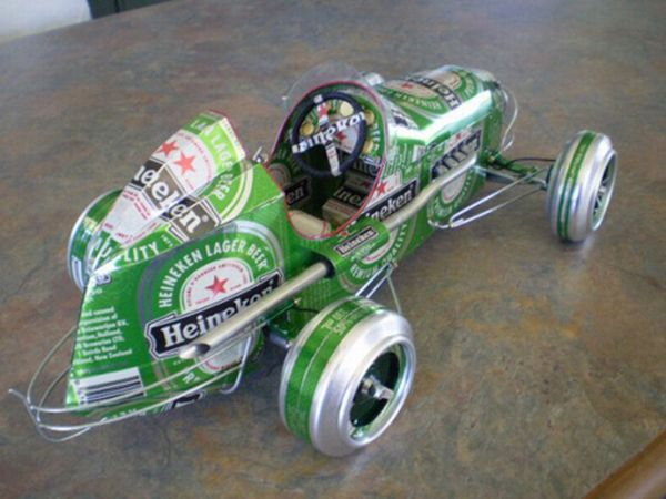 Beer can vehicle