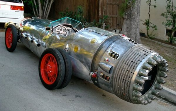 Steampunk Rocket Car