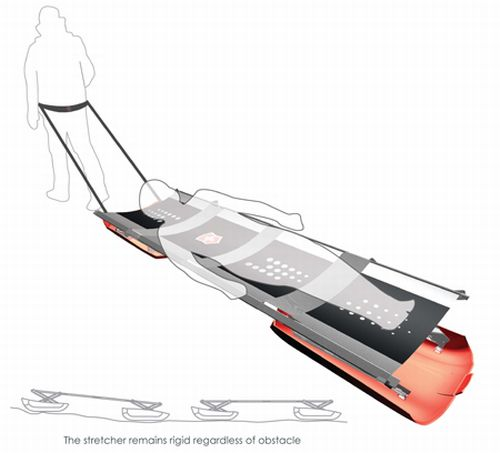 vite collapsible snow stretcher 2
