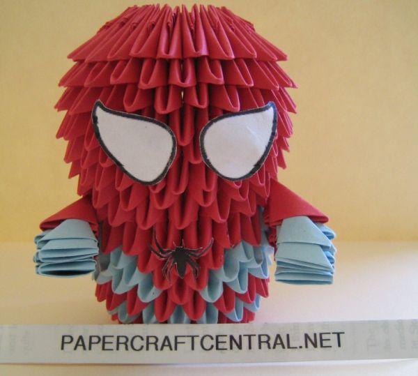 Spider Man 3D Origami