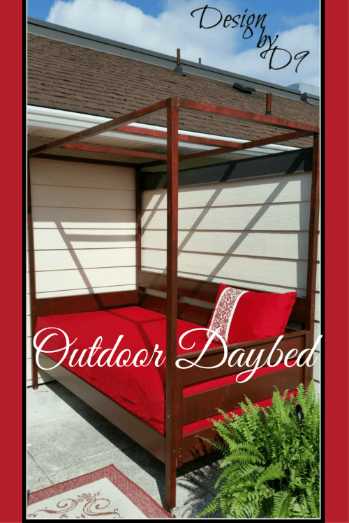 Outdoor daybed, build an outdoor daybed, daybed with canopy, DIY daybed
