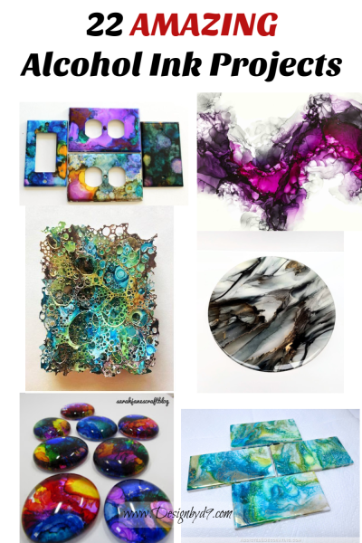 22 AMAZING alcohol ink projects you should try! Art work, Painting, ceramics, jewelry, ornaments and so many more. You won't beleive what some people do with alcohol ink!. #alcoholink