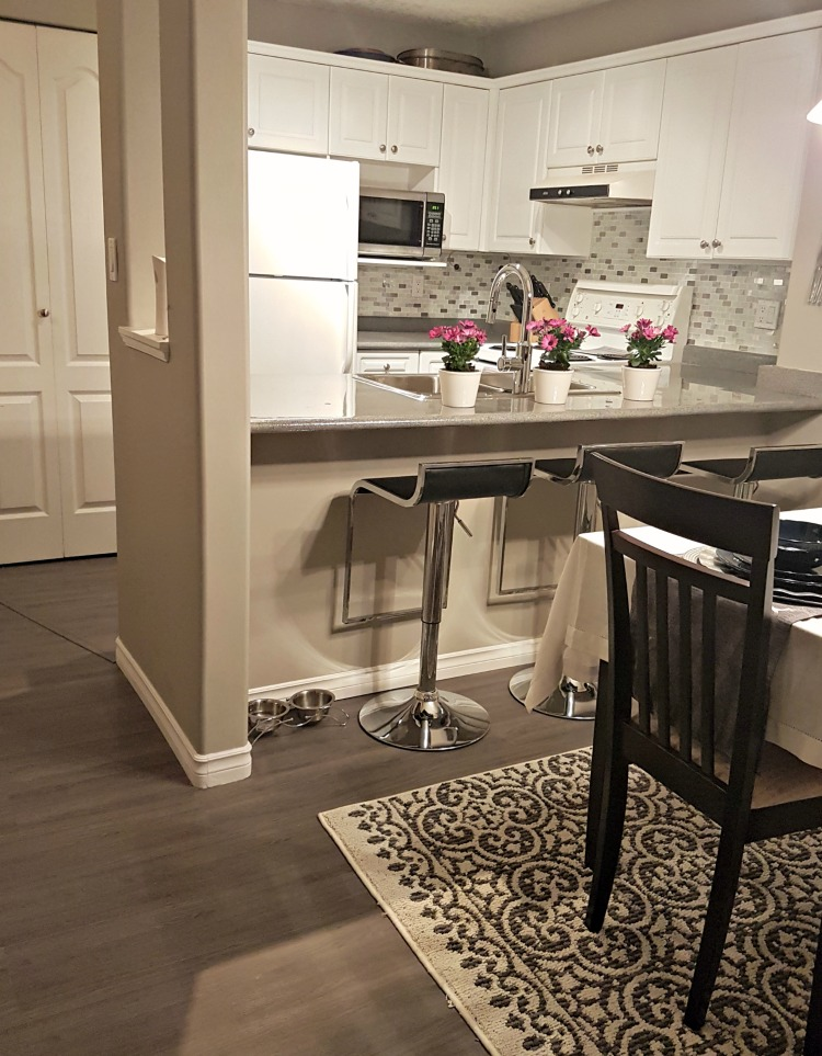 Welcome to my DIY condo reno! We renovated this condominium for resale and made 10 x our investment. #renovateforprofitAfter kitchen dining Greg's condo, condo reno